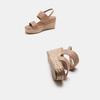 Sandales compensées bata, Jaune, 769-8960 - 19