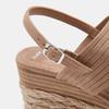 Sandales compensées bata, Jaune, 769-8960 - 26