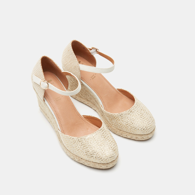 Sandales compensées bata, Or, 769-8953 - 19
