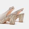 Sandales à talon large et à plateforme bata, Gris, 769-2865 - 15
