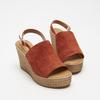 Sandales à plateforme bata, Brun, 763-4125 - 26
