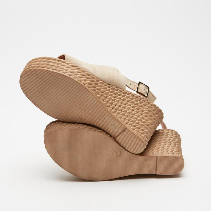 Sandales à plateforme bata, Beige, 763-8125 - 15