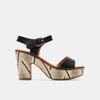 Sandales à talon large et à plateforme bata, Noir, 761-6866 - 13