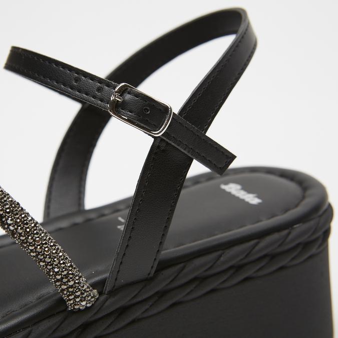 Sandales à plateforme bata, Noir, 761-6240 - 17