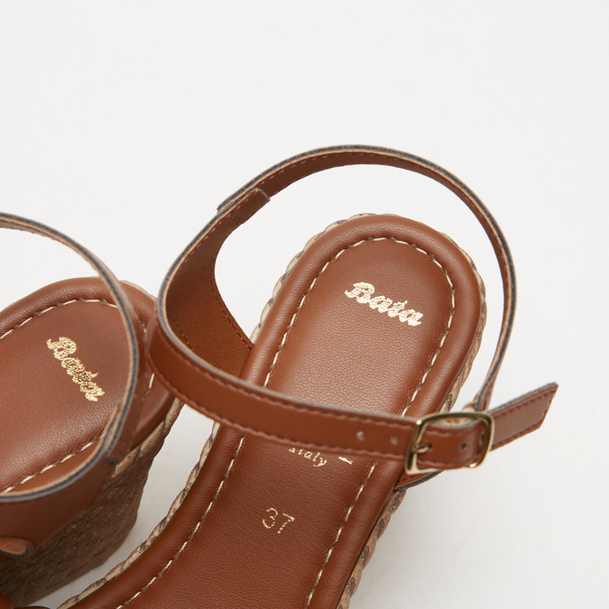 Sandales à plateforme bata, Brun, 764-4129 - 17