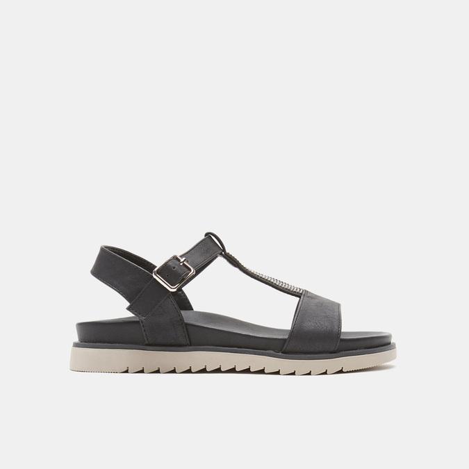 Sandales à bride bata, Noir, 561-6705 - 13