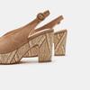 Sandales à talon large et à plateforme bata, Beige, 769-8865 - 15