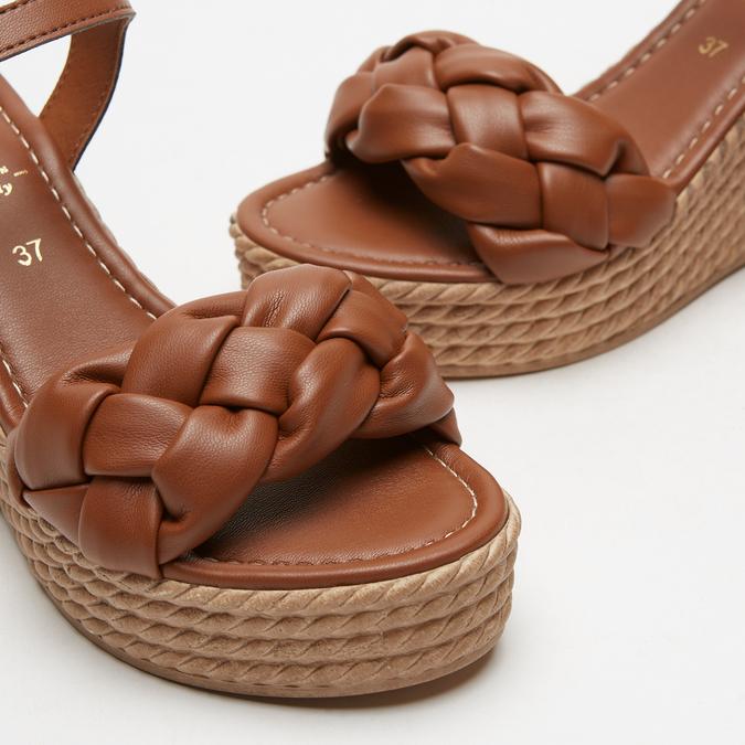 Sandales à plateforme bata, Brun, 764-4129 - 16