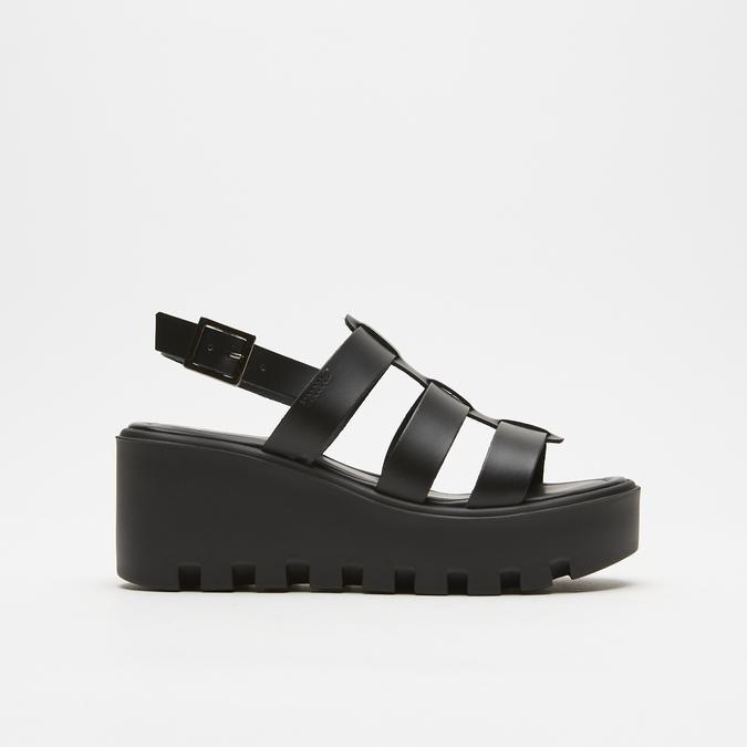 Sandales à plateforme bata, Noir, 764-6130 - 13