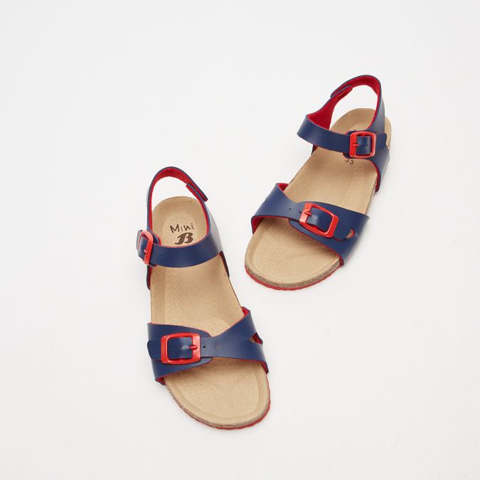 Sandales garçon mini-b, Bleu, 361-9433 - 26