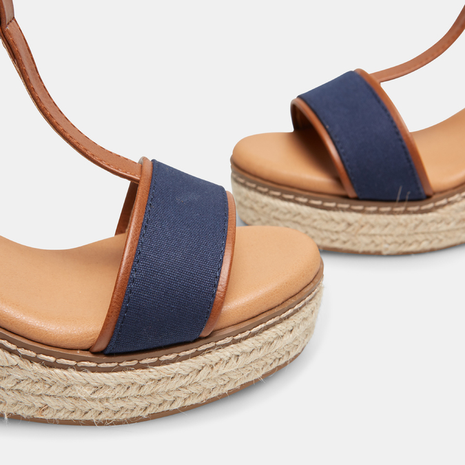 Sandales compensées bata, Bleu, 769-9916 - 15