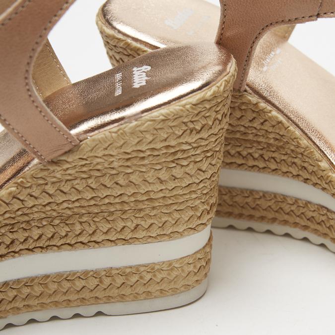 Sandales à plateforme bata, Or, 764-5153 - 15