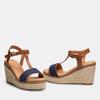 Sandales compensées bata, Bleu, 769-9916 - 26