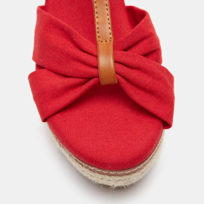 Sandales compensées bata, Rouge, 769-5913 - 26