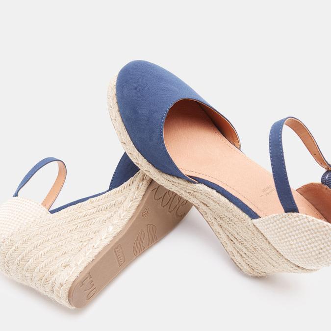 Sandales compensées bata, Bleu, 769-9921 - 17