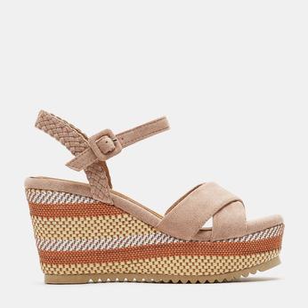 Sandales compensées bata, Jaune, 769-8920 - 13