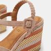 Sandales compensées bata, Jaune, 769-8920 - 26