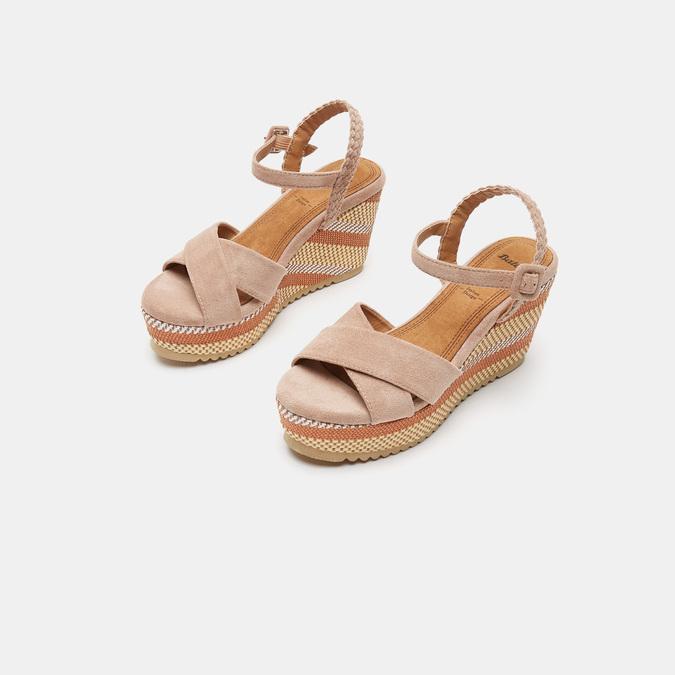 Sandales compensées bata, Jaune, 769-8920 - 16