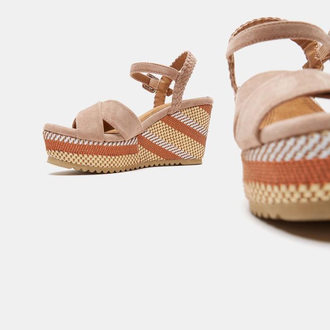 Sandales compensées bata, Jaune, 769-8920 - 19