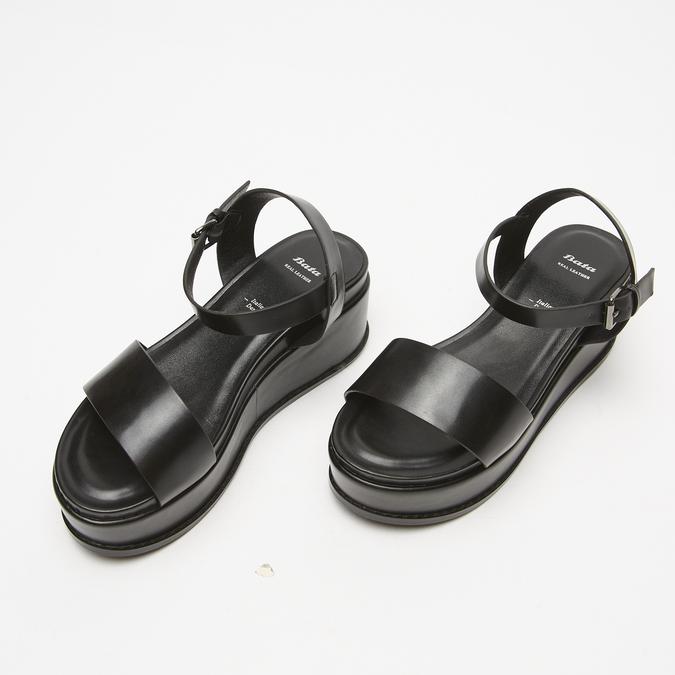 Sandales femme à plateforme bata, Noir, 761-6950 - 26