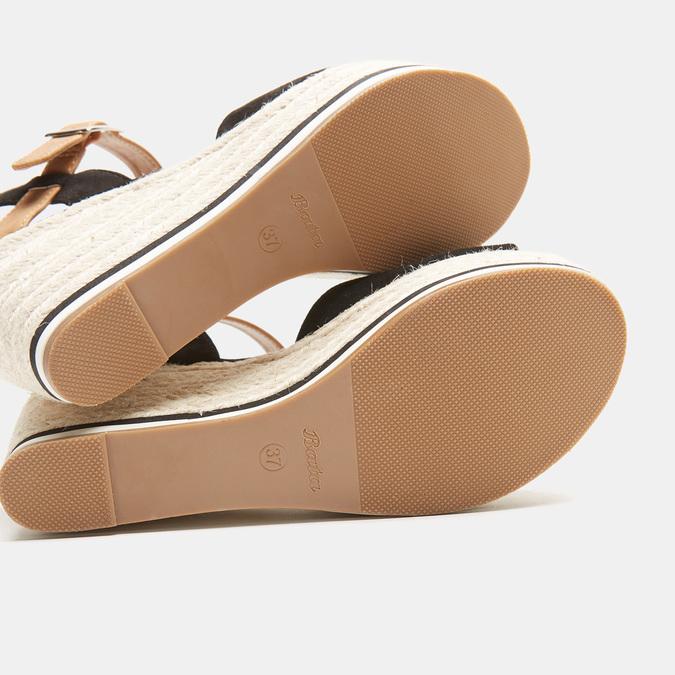 Sandales compensées bata, Noir, 769-6912 - 17