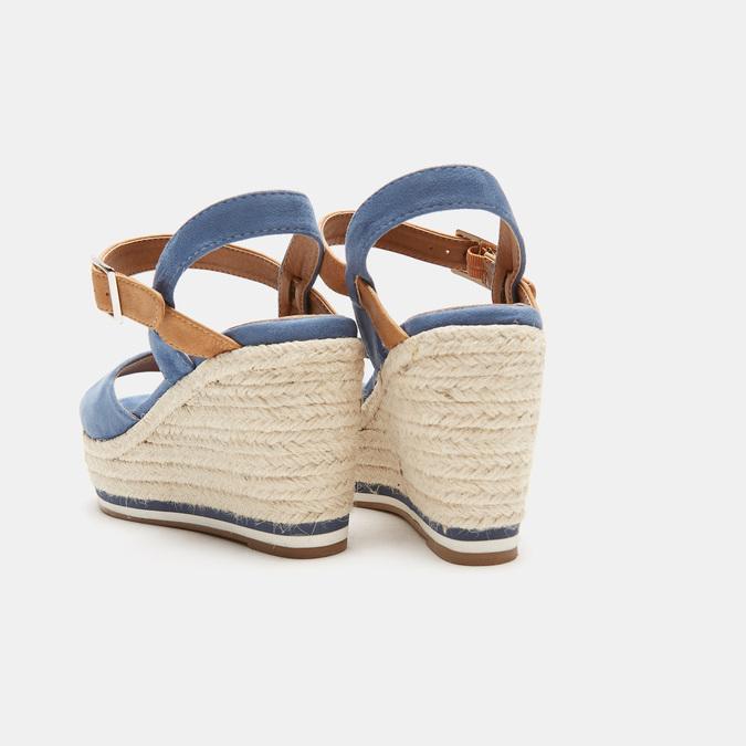 Sandales compensées bata, Bleu, 769-9912 - 17