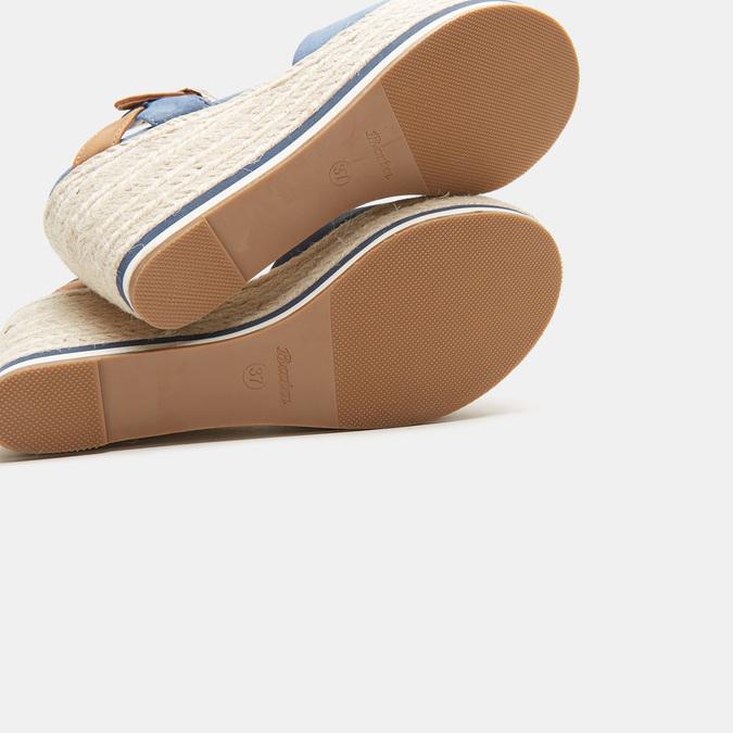 Sandales compensées bata, Bleu, 769-9912 - 19