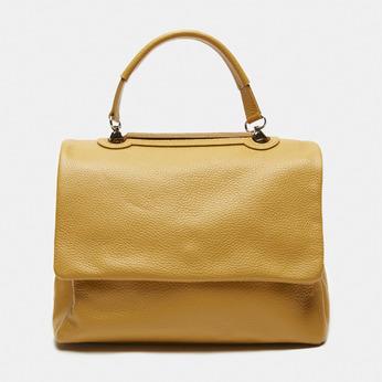 sac à main en vrai cuir bata, Jaune, 964-8152 - 13