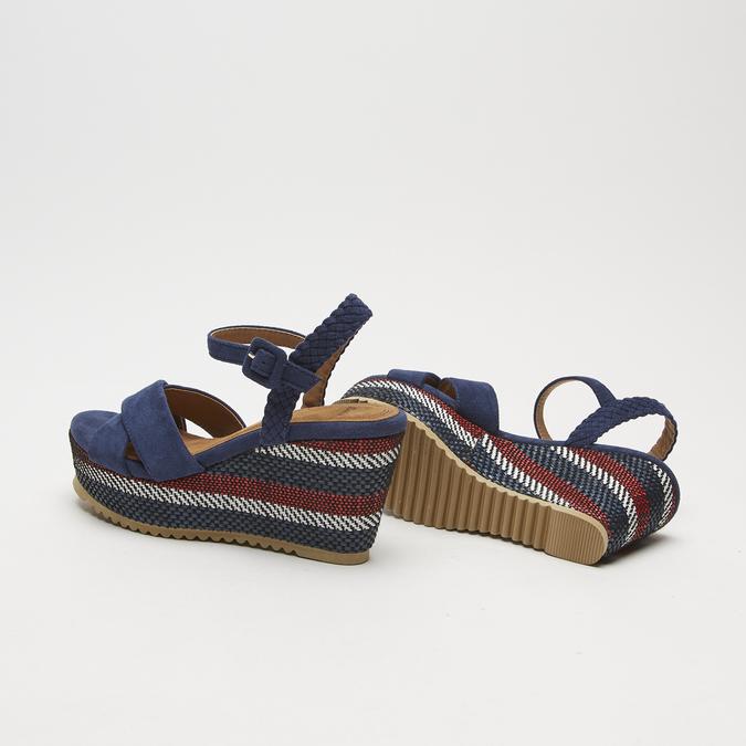 Sandales compensées bata, Bleu, 769-9920 - 17