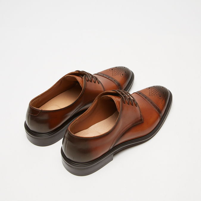 chaussures basses en cuir homme bata, Brun, 824-3172 - 17