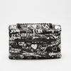 petit sac à main imprimé à effet matelassé bata, Noir, 961-6134 - 16