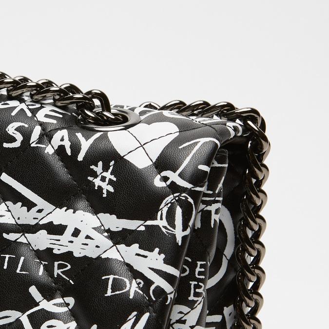 petit sac à main imprimé à effet matelassé bata, Noir, 961-6134 - 26