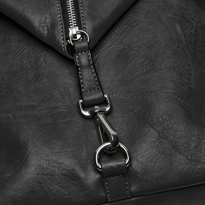 sac à dos clouté à fermeture éclair bata, Noir, 961-6284 - 26