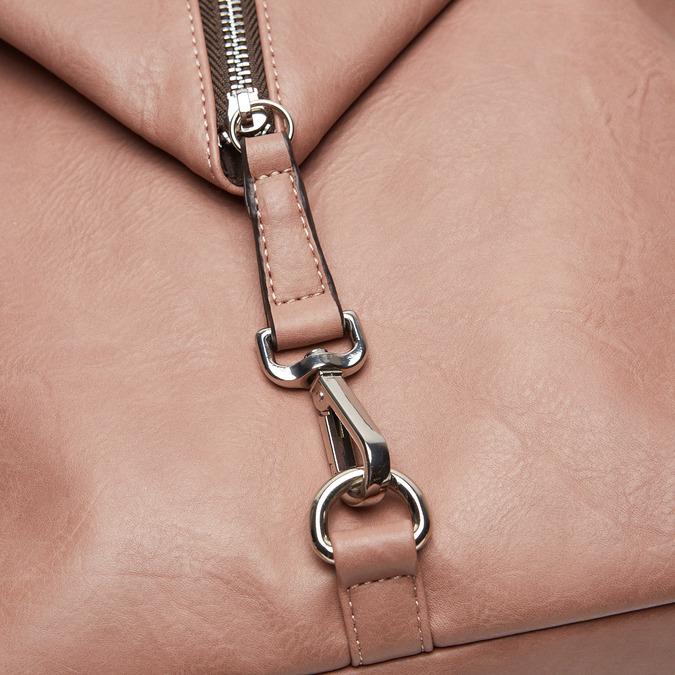 sac à dos clouté à fermeture éclair bata, Rose, 961-5284 - 16