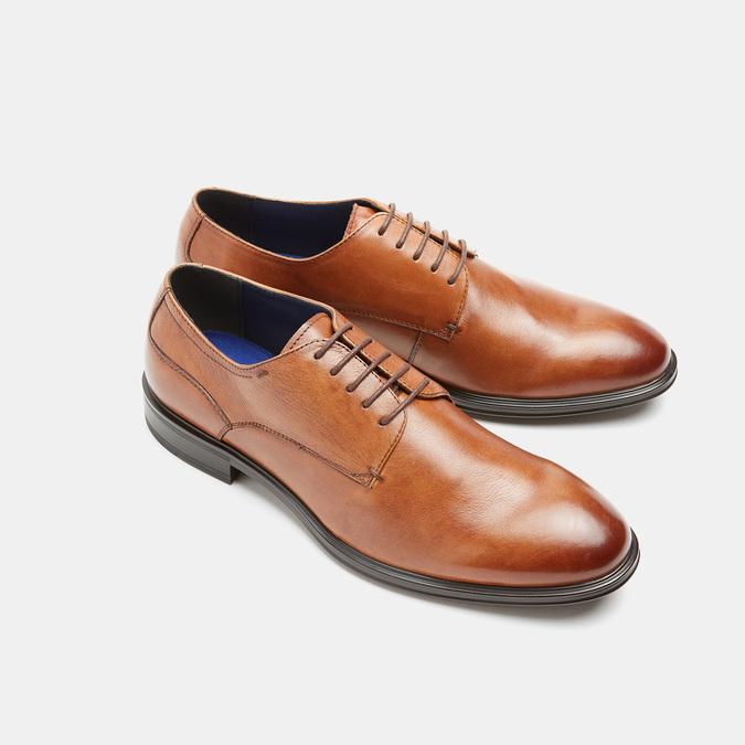 chaussures basses en cuir homme, Brun, 824-3110 - 26