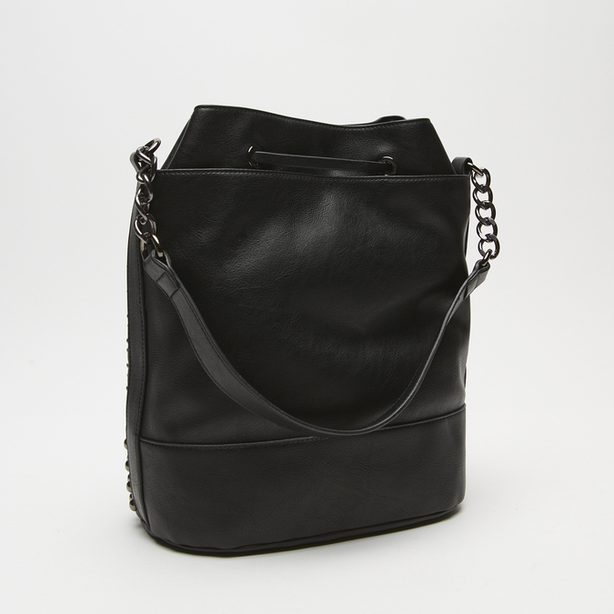 sac bucket clouté bata, Noir, 961-6338 - 15