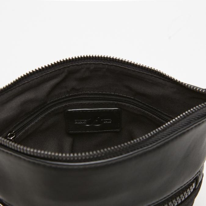 sac à bandoulière à double fermeture éclair bata, Noir, 961-6168 - 17