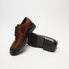 chaussures basses brogue en cuir bata, Brun, 824-4119 - 15