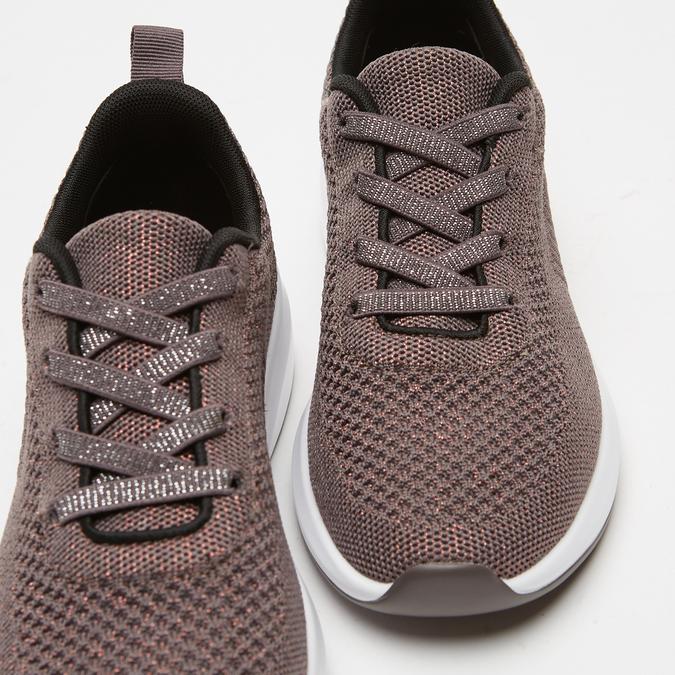 baskets en knit femme bata, bronze, 549-4572 - 17