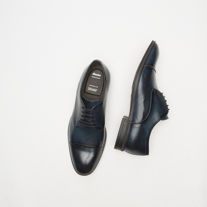 chaussures basses en cuir homme bata, Bleu, 824-9376 - 15