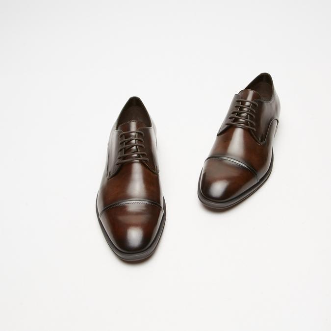 chaussures basses en cuir homme bata, Brun, 824-4376 - 26