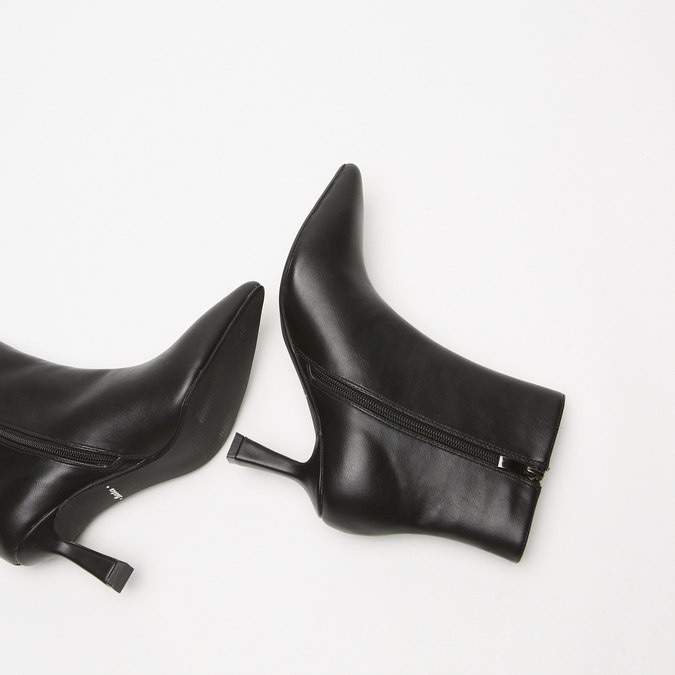 bottines pointues à effet mat bata, Noir, 791-6754 - 19