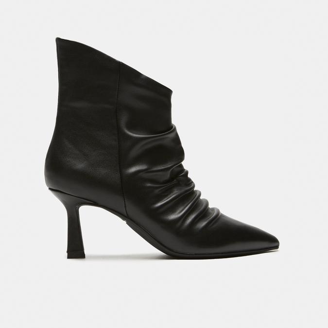bottines en vrai cuir à effet ondulé bata, Noir, 794-6764 - 13