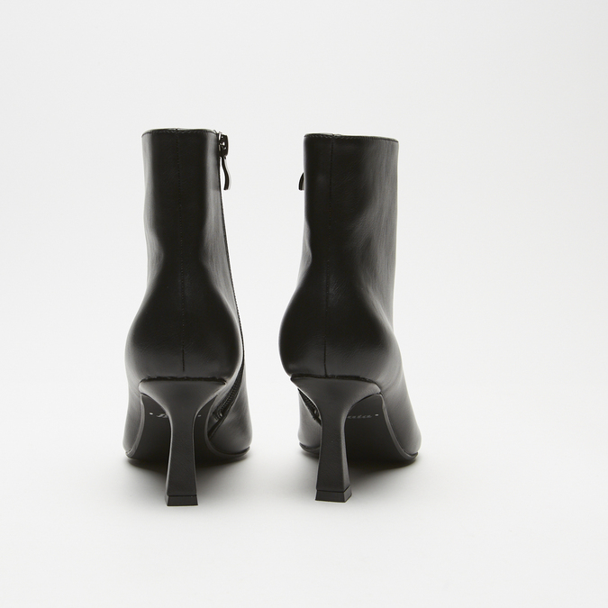 bottines pointues à effet mat bata, Noir, 791-6754 - 17