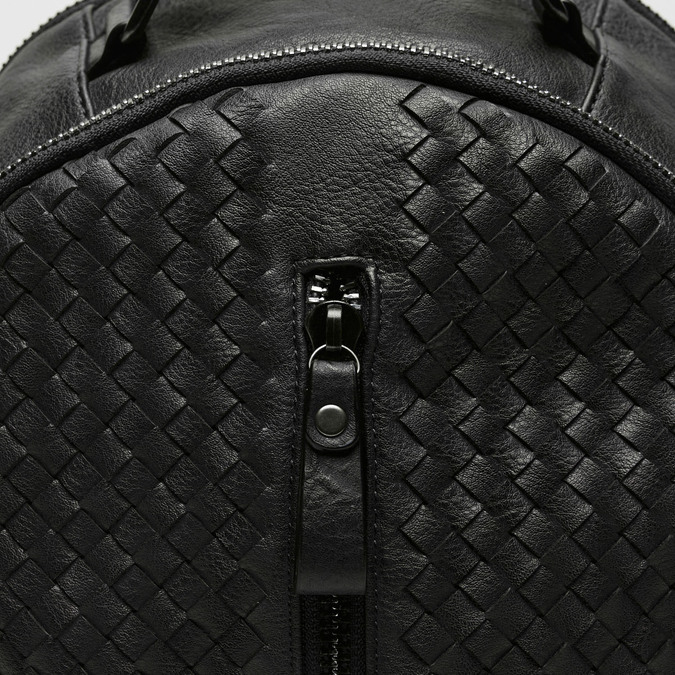 sac à dos en cuir éco matelassé bata, Noir, 961-6807 - 26