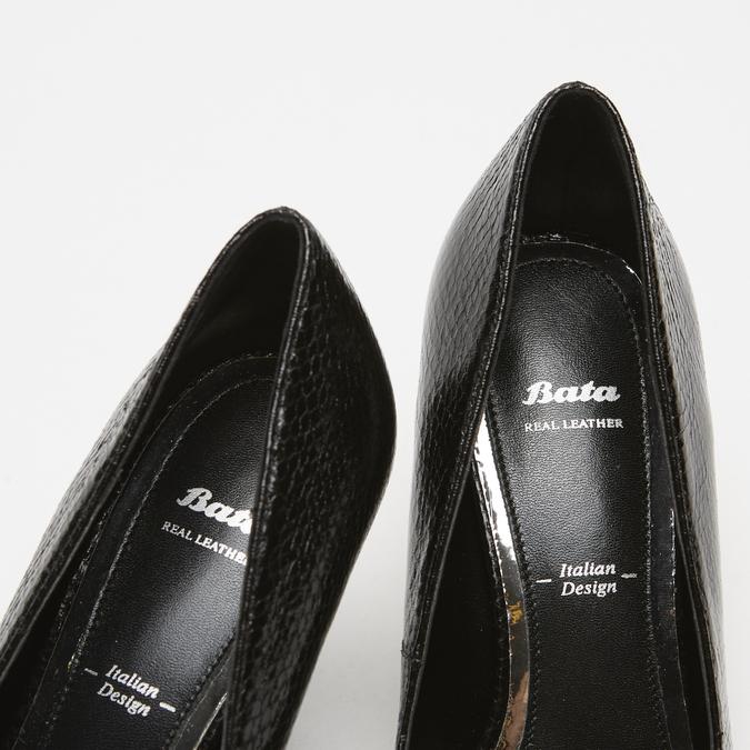 escarpins pointus à talons aiguilles bata, Noir, 721-6293 - 15