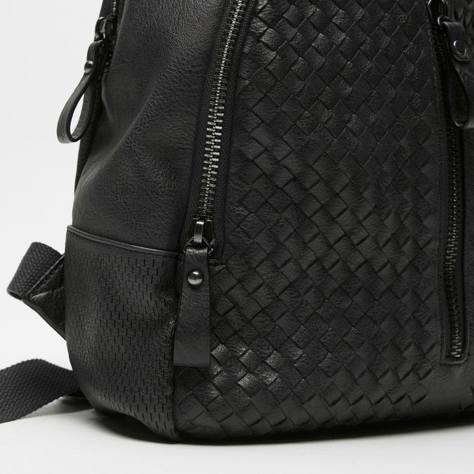 sac à dos en cuir éco matelassé bata, Noir, 961-6807 - 16