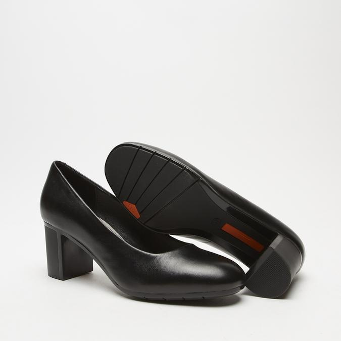 escarpins à talons larges et plateforme flexible, Noir, 724-6113 - 19