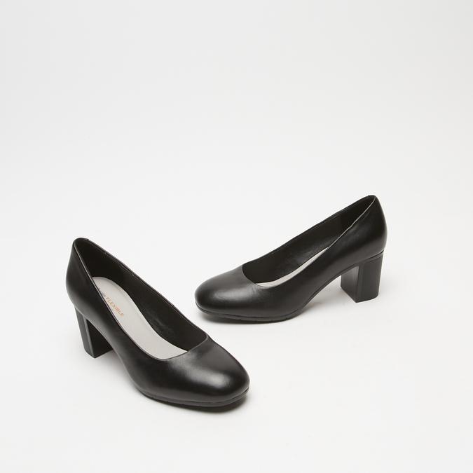 escarpins à talons larges et plateforme flexible, Noir, 724-6113 - 16