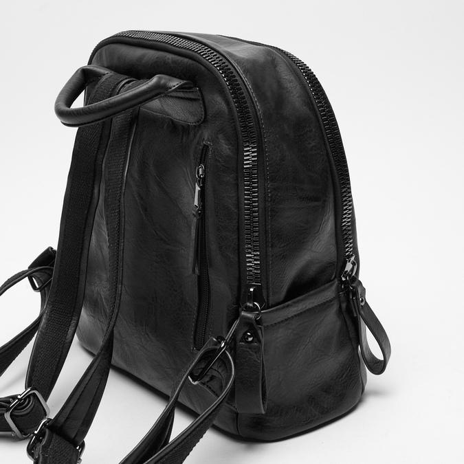 sac à dos à double fermeture éclair bata, Noir, 961-6334 - 15